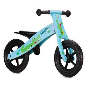 Nicko NIC862 Crocodile Children's Kids Boy Blue Wooden Balance Bike 2-5 Years