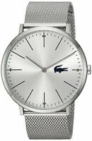 Lacoste Original 2010901 Men's Moon Silver Stainless Steel Mesh 40 mm