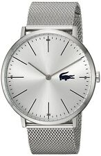 Lacoste Original 2010901 Men's Moon Silver Stainless Steel Mesh Watch 40mm