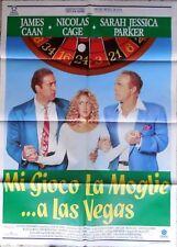 manifesto movie poster 2F MI GIOCO LA MOGLIE A LAS VEGAS CINEMA CAGE CAAN PARKER