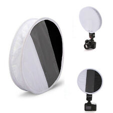 30cm White Balance 18% Gray Card Board Round Flash Soft Diffuser Softbox light