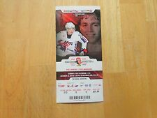 Patrick Kane Ticket from  2008  World Jr. Game Germany vs.USA  Dec. 26, 2008