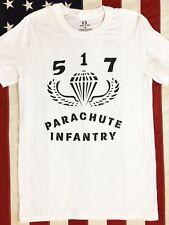 WWII 517 Parachute Infantry Paratrooper Airborne T Shirt Spec Tag Mens sz S - XL