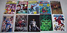 Set of 10 Marvel 1991 Comic Cover Postcards