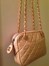 Authentic Tan Vintage Chanel Camera Bag In Excellent Condition