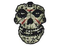 OFFICIAL LICENSED - MISFITS - CRYSTAL LAKE SKULL IRON ON / SEW ON PATCH PUNK