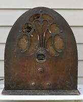 "Antique 1930 Philco Model 20 ""Baby Grand"" Cathedral Radio Phila PA Battery Co"