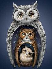 Mosaic Diamond Painting Full Drill Owl Cross Stitch Kits Embroidery Art Crafts