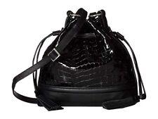 NWT Brighton Christa Bucket Bag Black Crocodile Leather Drawstring MSRP $285