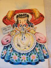 "Rare Vintage 1947 Collectible Hallmark Card Doll No.13 ""Little Polly Flinders"""