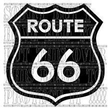 Route 66 decal sticker vinyl graphic biker harley Disney cars toons USA roadsign