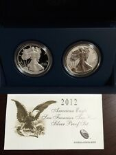 2012 American Eagle San Francisco Mint Two-Coin Silver Proof Set