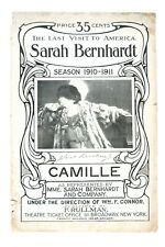 "1910 Promotional Booklet and Script for Sarah Bernhardt in ""Camille"""