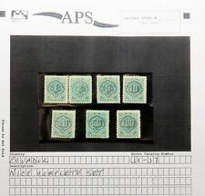 Ecuador Complete Set Scott j1-j7 APS francobolli Set (Lot 6906