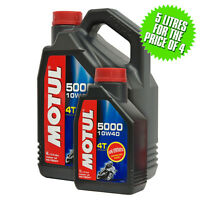 Motul 5000 4T Semi Synthetic 4 Stroke 10W40 Motorcycle / Bike Engine Oil