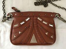 Hayden Harnett mini bag chain strap cognac
