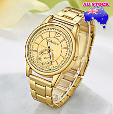 Wholesale Classic Men's Gold Minute Stainless Steel GoldPlated Dial Quartz Watch
