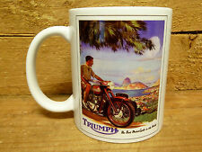 300ml COFFEE MUG, TRIUMPH, THE BEST MOTORCYCLES IN THE WORLD, VINTAGE ADVERT