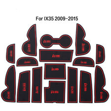 1set Interior Door Mat Cup Pads Holder Gate Slot Pad for Hyundai IX35 2009-2015