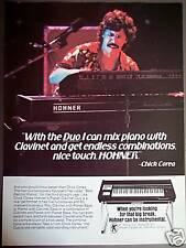 1980 Chick Corea HOHNER Pianet Clavinet DUO photo ad