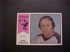 1974-75 WHA HOCKEY #30 GERRY CHEEVERS GEM MINT