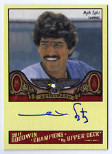 Mark Spitz Spits gold medal auto signed swimming card