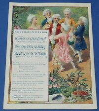 Rare chromo 1900 14 x 18 rhyme song irons plus wood pub the coterie ecole
