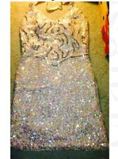 Beautiful Pink Sequined Party Dress Size 12