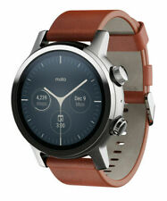 Motorola Moto 360 (3rd Gen.) 43mm Grey Stainless Steel Case with Brown Leather Band - (M360FS19-SS)