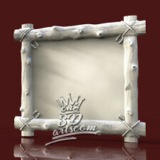 3D Model STL for CNC Router Artcam Aspire Wood Forest Frame Cut3D Vcarve