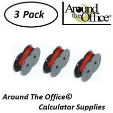 OMRON Model 1215-P Compatible Calculator RS-6BR Twin Spool Black & Red Ribbon