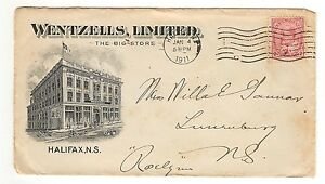 WENTZELLS LIMITED HALIFAX NOVA SCOTIA ON ADVERTISING COVER - 1911-THE BIG STORE