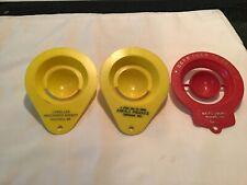 Lot Of 3 Vintage Retro Egg Seperators Advertisers Plastic