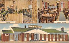 D67/ Rock Springs Wyoming Wy Postcard Linen Roadside Howards Interior 3View