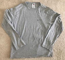 Tommy Hilfiger Vintage VTG Gray Shirt Long Sleeve Spell Out Men's Large L 90s