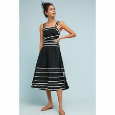 New Anthropologie Margot Linen Skirt by Flannel  $318 Black SMALL