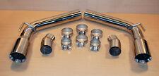 2010-2015 Chevy Camaro Axle Back Muffler DELETE v6 v8 Stainless Steel  +  TIPS