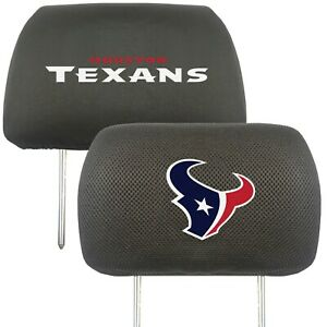 Fanmats NFL Houston Texans 2-Piece Embroidered Headrest Covers Delivery 2-4 Days