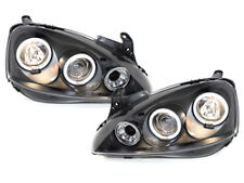 Fari Opel Corsa C 01-06 2 CCFL Angel Eyes black