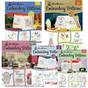 1 x Aunt Martha's Iron On Transfer Embroidery Books Re-usable