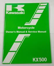 Kawasaki KX 500 1984 Motorcycle Service Manual NEW