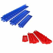 """6pc Imperial AF SAE and Metric ABS Plastic Socket Holders 1/4"""" 3/8"""" and 1/2"""" Dr"""