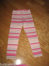 Gymboree Girls Size 7 Leggings Glamour Ballerina Fair Isle Pink VGC