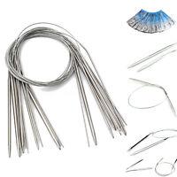 13Pcs Circular Durable Stainless Steel Needles Crochet Knitting Craft Knit Hooks