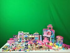 HUGE Girl's Toy lot Barbie, Polly Pocket Melanie's Mall Figures Playset Clothes