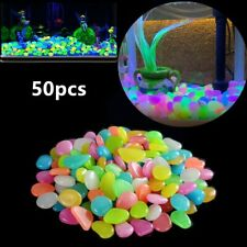 50pcs/bag Nice Aquarium Decorative Glow Stone Night Rocks Eco-friendly Fish Tank