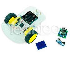 2WD Robot Smart Car Chassis + Driver L298N + HC-SR04 + Breadboard. For Arduino