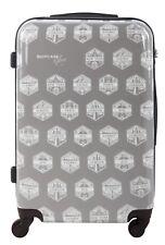 Lightweight hard shell Suitcase grey city print wheeled 24 inch, Luggage Case