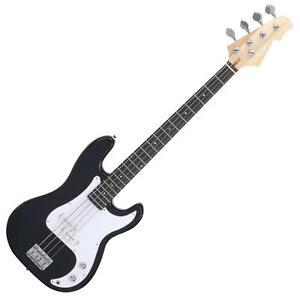 Basse Electrique E-Bass Basse Guitare 22 Frets 4 Cordes 1 Regleur Volume Noir