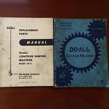 DoAll Contour Machine Operator & Parts Book